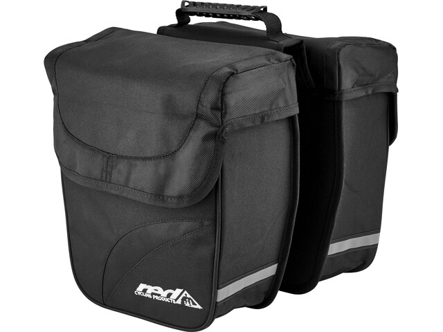 Red Cycling Products Double City Bag Draagbare Fietstas, black